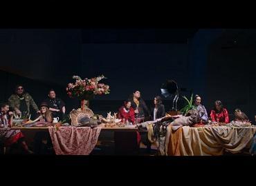 Scene from Chandler Levack's music video.